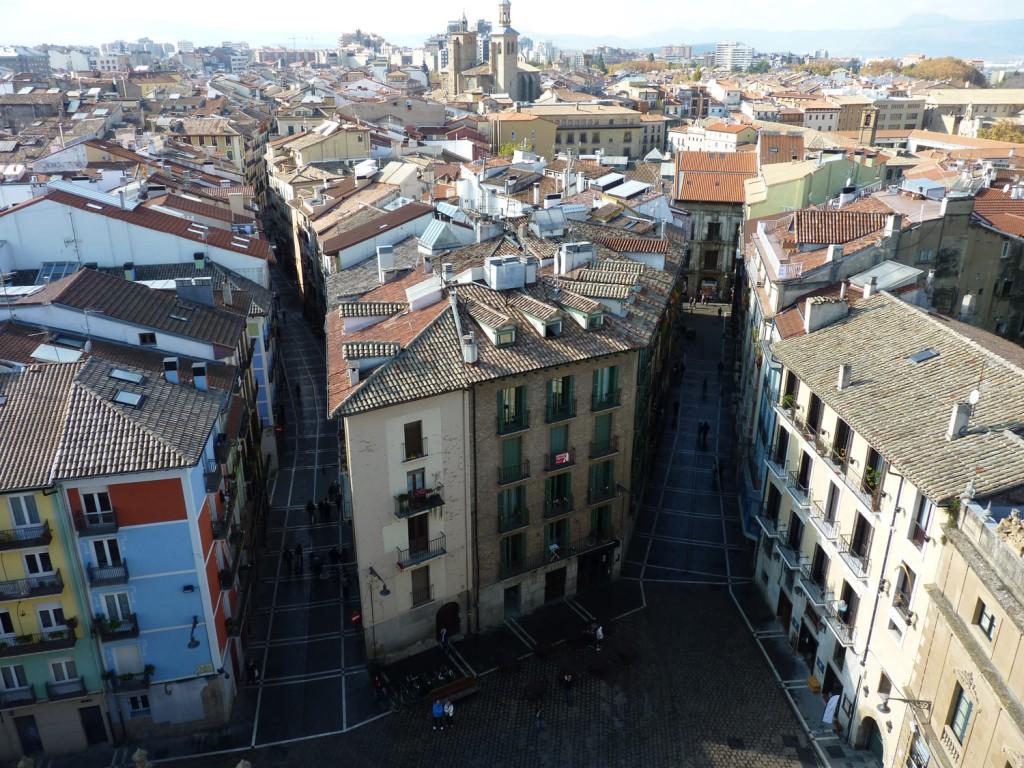 Vista de Pamplona desde la Catedral